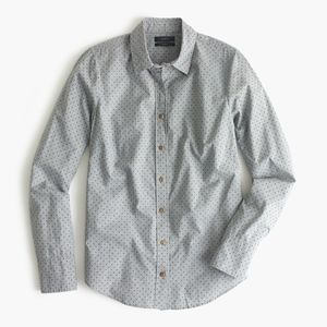 J. Crew Perfect Shirt In Heather Flannel Dot